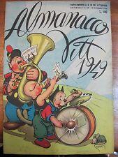 ALMANACCO VITT.1949 - SUPPLEMENTO AL N.50 DEL VITTORIOSO 1948 - QUASI EDICOLA