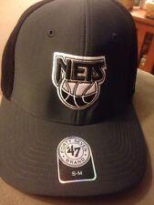 47 BRAND NBA WINSHIP HWC TEAM LOGO BASKETBALL HAT/CAP - BROOKLYN NETS - S -M