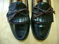 Men's Dress Shoes ALLEN EDMONDS WOODSTOCK Loafer Sz 8.5 B Black & Brown Leather