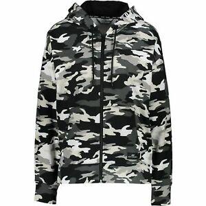 DKNY Sport Women Multicolour Camo Pattern Hoodie Jacket Sz: L