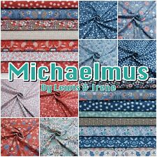 Lewis & Irene MICHAELMAS Metallic Autumn Garden Floral Cotton Patchwork Fabric