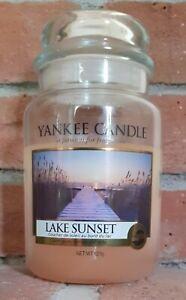 Used Yankee Candle Large Jar Lake Sunset Fragrance
