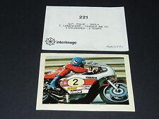 #221 LANSIVUORI YAMAHA 500 IMOLA PILOTE MOTO COURSES 1976 INTERIMAGE PANINI