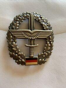 German Army Hat Badge Wings Dagger Sword Saber