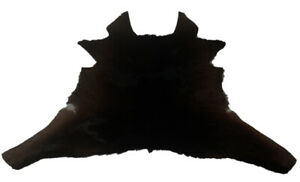 "Cowhide Rugs Calf Hide Cow Skin Rug (26""x30"") Black touch of brown/white CH8191"