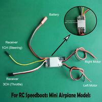 2-4S 2CH ESC cepillado unidireccional para modelos de mini aviones RC Speedboats