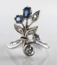 9 Carat White Gold Sapphire Art Deco Fine Jewellery