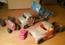 Vintage Metal Truck Tractor Toys Lot Structo Hubley Tootsie Toys