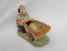 Vintage Ceramic Clown Pushing Cart Planter