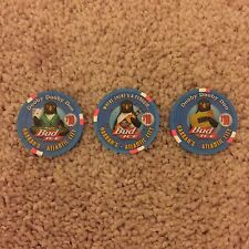 $10 Harrah's Atlantic City Bud Ice Penguin Numbered Chip Set - Mint Condition