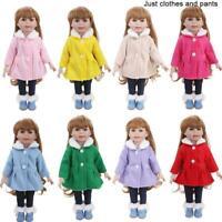 Puppenkleidung Fit 18 Zoll Puppe Baby Warme Jacken + Hosen Kinder Geschenk C8M6