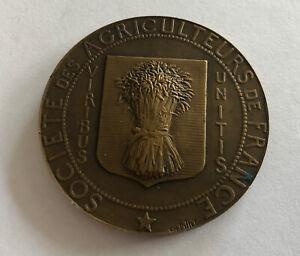 Medal Bronze Societe Of Farmers French REF65127