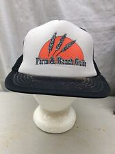 trucker hat baseball cap Vintage Snapback Mesh Retro Farm Ranch Guide Ag S/M