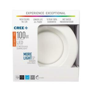 """6"""" CAN DIMMABLE RECESSED CEILING DOWNLIGHT 100W soft white 2700k CREE LED"""