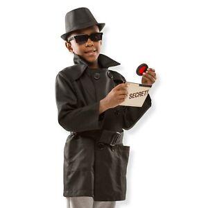Melissa & Doug Spy Agent Role Play Fancy Dress Costume Age 5 6 7 8 Child Kid