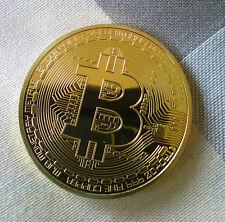 Hot!Rare Collectible In Stock Golden Iron Bitcoin Commemorative Gold-plated Coin