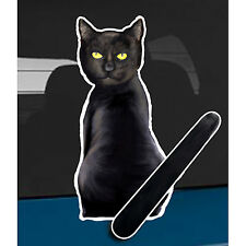 Black Cat animal car rear window wiper sticker - 10 inches tall