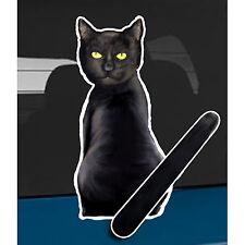 Black Cat animal car rear window wiper sticker - 10 inches tall