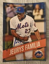 Jeurys Familia New York Mets Signed 5 X 7 Photo 2015 Mets Kids Club Giveaway