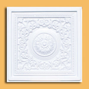"""Grid System 24"""" x 24"""" PVC Ceiling Tiles MAJESTY White"""