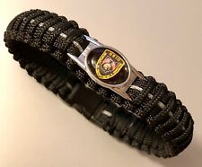Paracord Bracelet * Ohio Dept of Rehabilitation & Correction * Black & Grey