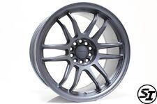 Rota Roku Wheels Slate Grey 18x95 38 5x108 5x1143 Subaru Wrx 15 17 Sti 05 17