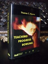 Kouros TEACHING PROGRESS BOWLING libro autografato Manuale bowling
