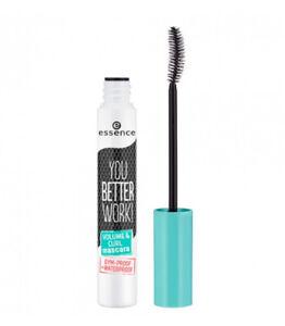 Essence You Better Work Volume & Curl Mascara 10mL - BLACK - Waterproof - NEW