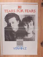 TEARS FOR FEARS -   100X70 POSTER CONCERTO [MM 0297-F]