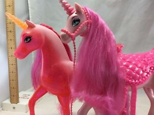 "2 Fancy Unicorns 10"" and 11"" tall lights up (B12)"