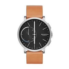 Skagen Connected Unisex-Smartwatch SKT1104 Analog Titan Leder Braun Schwarz