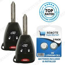 2 Replacement for Chrysler 2005-07 300 2007-09 Aspen Remote Car Key Fob Kobdt04a