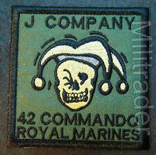 Britain British Royal Marines 42 Commando J Company Patch (OD)