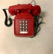 Cortelco 250047-Vba-20M Single corded landline desk Phone Red.