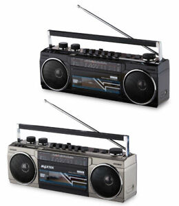 Medion 80s Style Boombox Cassette Bluetooth Player/AMFM Radio USB/SDCard MD43507