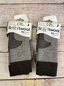 2 Men's Smartwool PhD Hunt Medium Cushion Crew Merino Wool Socks Medium 6 7 8