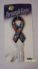 Autism Awareness Ribbon Schlage SC1 house key blank.