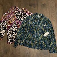 NWT Chicos Zenergy Lot of 2 Athletic Jacket Coat Womens Size 1 Medium