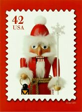NUTCRACKER 42 CENTS EMBOSSED CHRISTMAS USPS OFFICIAL CARD # 3
