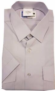 Men's Silver Grey Short Sleeve Pilot Uniform Police Shirt Style 2002 K