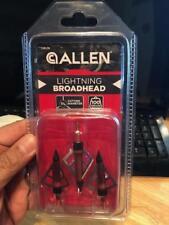 "Brand-new Allen Archery 100 Grain Lightning Broadheads 1 3/16""  Bowhunting"