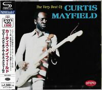 THE VERY BEST OF CURTIS MAYFIELD JAPAN 2017 RMST SHM CD MINT CONDITION WITH OBI