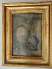 Vintage Framed Print CORRIDOI DI BORGO  E Roesler Franz Certificate Authenticity