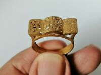Stunning Extremely Ancient Roman Bronze Ring Rare Type Authentic Artifact