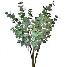 Set of 3 Artificial 49cm Eucalyptus Sprays - Fake Home & Garden Plant Stems