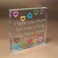 Spaceform Multi Hearts Mum Token Gift ideas for Birthday Her & Mother & Mom 1746