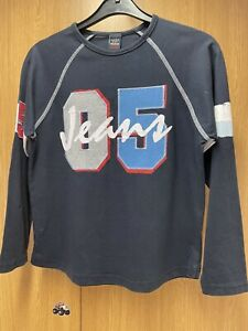 Boys Long Sleeved Blue Top From NEXT Age 10 Years Height 140cm VGC