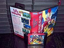 Yu Yu Hakusho Makyou Toitsuser for Sega Genesis! Cart and Box!