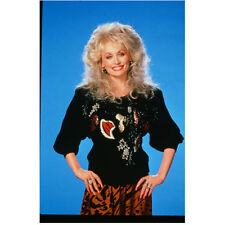 Dolly Parton in Black Sweater and Orange Skirt Hands on Hips 8 x 10 inch photo