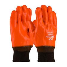PIP Safety ProCoat 58-7303 Hi-Vis Orange PVC Coated Gloves Insulated Knit Wrist